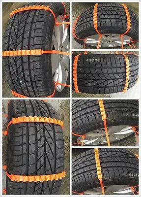New Reusable Tire Chain Car/SUV/Truck Snow Tire Antiskid Chain safety kit/5pcs