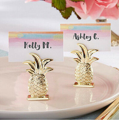 20pc Gold Pineapple Name Number Table Place Card Holder For Wedding Party Favor