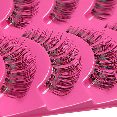 5 Pairs Natural Long Eye Lashes Makeup Handmade Thick Fake False Eyelashes Hot