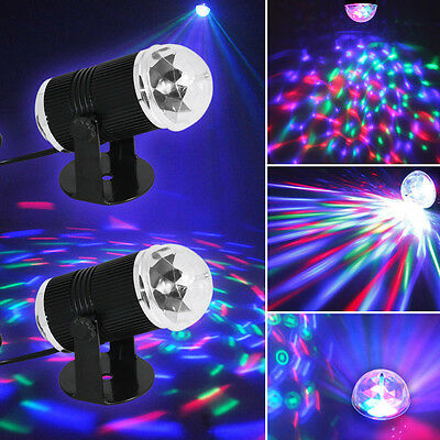 AU 2x RGB Rotating Light LED Laser Stage Party DJ Disco Bar Club Lamp Dance Show