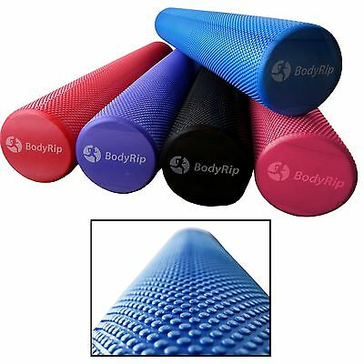 BodyRip GRID FOAM MASSAGE ROLLER 90cm PILATES YOGA FITNESS REHAB INJURY HOME GYM