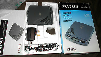 Personal CD Discman Player Matsui CD 104 A *WORKING - COMPLETE - GOOD CONDITION*