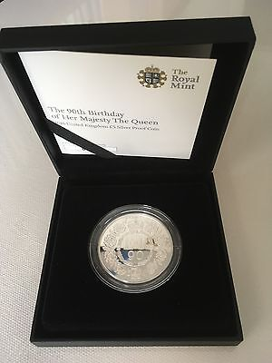 The Queen's 90th Birthday 2016 UK £5 Silver Proof Coin - Limited Edition 9,000