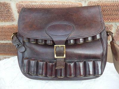 Superb  Leather  Cartridge Shooting Hunting Bag.
