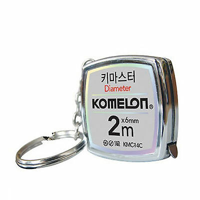 Komelon KeyMaster Mini Tape Measure KMC-14C Steel Pocket Key Chain 2M Measuring