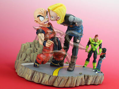 Dragon Ball Z Android 18 Kissing Krilin Resin Figure Figura Nueva New Statue