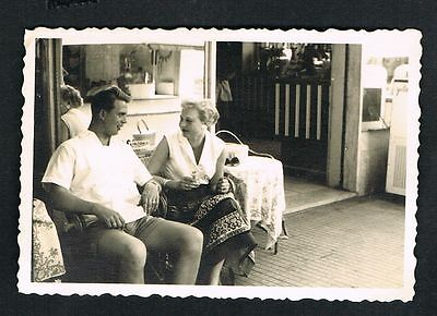 RICCIONE, Foto vintage Photo, Mann Frau Urlauber man woman vacationer /107