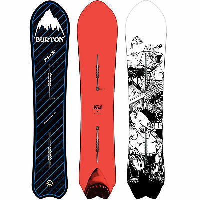 Burton Poisson Retro Powder Snowboards Freeride Smallow Arrièr 2016-2017 NEU
