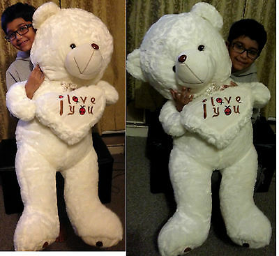 110cm 3.6Ft Giant large huge Big teddy bear plush toy birthday gift girl friend