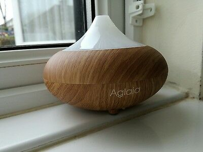 Aglaia Aroma Diffuser Light Wood Grain Essential Oil Humidifier with 7 Color LED