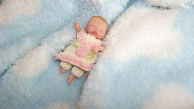 Ooak Partial Sculpt Tiny Sweet Baby Girl Kristin 2'' resale