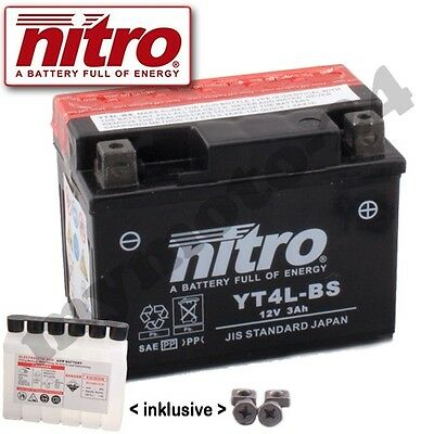Batterie Adly Moto Air Tec 1 50  Bj. 2006 Nitro YT4L-BS