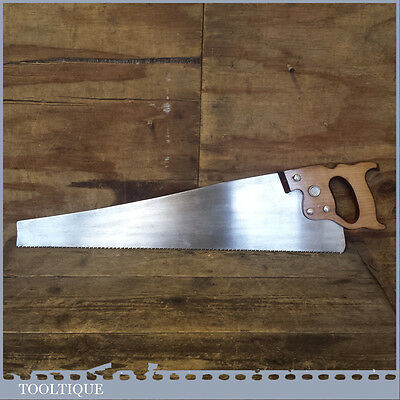 """Vintage Henry Disston 23"""" Long Cross Cut Hand Saw With 8 TPI – Sharpened"""