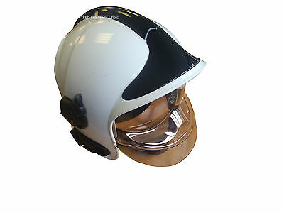 Cgf Gallet - White Fire Fighters Helmet - Used Condition - Size Medium (53-63)