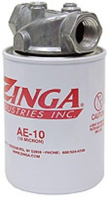 "Hydraulic Oil Tank Return Filter Assembly Zinga AE-10 Micron with 1"" NPT Head"