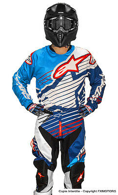 New 2017 32 M Alpinestars Racer Braap CYAN Blue Jersey Pant Kit Motocross Enduro