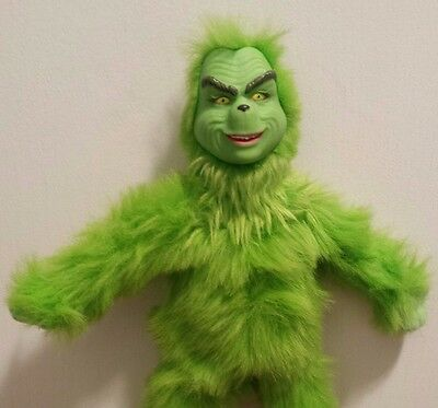 """How The Grinch Stole Christmas Talking 12"""" Plush Doll w/ Jim Carey's Voice 2000"""