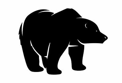 Bear Sticker , Grizzly Bear Decal - Bear Hunting Decal - Large Size Availble
