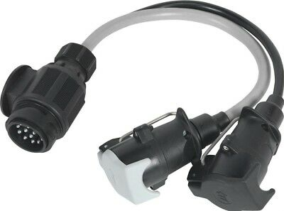 Sealey Conversion Lead 13-Pin Euro to 7-Pin N & S Type Plugs 12V