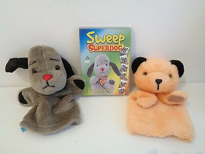 Sooty And Sweep - Pair Of Hand Puppets - Sweep With Sound + Dvd Superdog