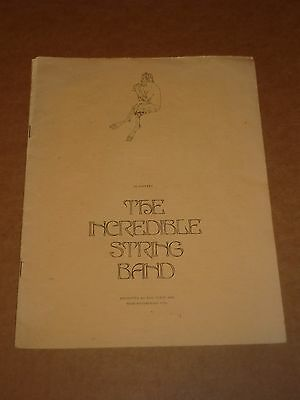Incredible String Band 1968 Tour Programme