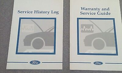 ford service history book and warranty