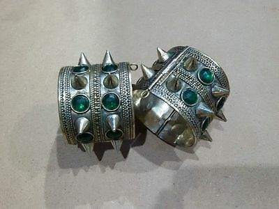 pair of Afghan Jewelry Adjustable Cuff Bangle Bracelet Hand Made