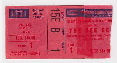 Bee Gees - 9-7-79 - Madison Square Garden - New York, NY ticket stub - 1979 Gibb