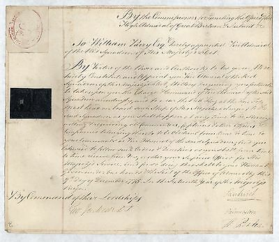 ADMIRALTY.  Appointment of William Parry, Vice Admiral of the Red Squadron, 1775