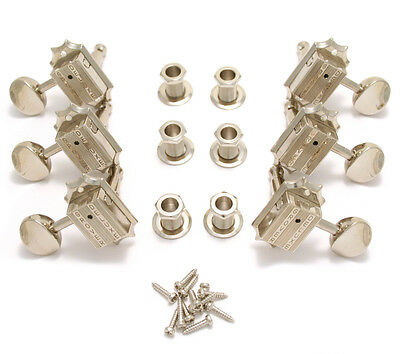 Grover Vintage Deluxe Nickel Guitar Tuner Machine Heads 136N Free Shipping
