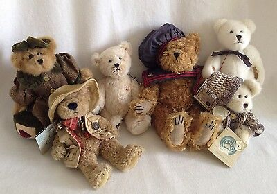 6 Boyd's Bears Lot Mohair Archive Collection & MORE