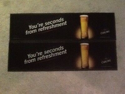Carling rubber bar beer runner mat x 2 HOME PUB/BAR/MANCAVE