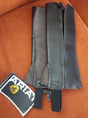 New ARIAT Kids Stable Half Chaps Chocolate Brown ST