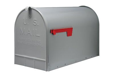 Extra Large Rural Mailbox Package Mail Box US Letter Home House Steel Grey