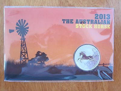 2013 The Australian Stock Horse 1 oz silver BU coin in blister in card