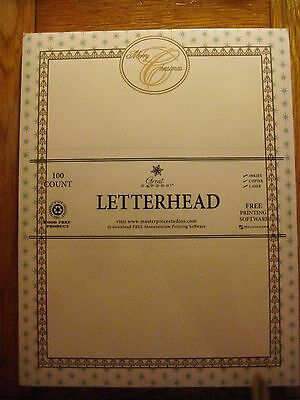 Great Papers! Letterhead Christmas stationary paper pkg 100 sheet 8.5 x 11 New