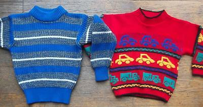 Lot of 2 vintage 80s 90s boys hipster sweaters 3T 4T