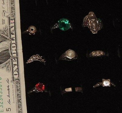 Antique Ring Jewelry Lot Art Deco Filigree Lion & More (xx961)