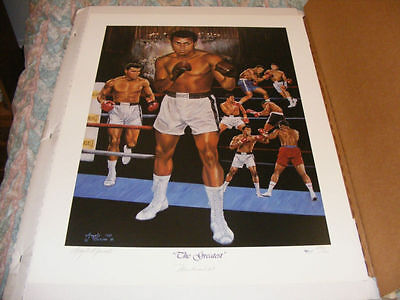 MUHAMMAD ALI SIGNED Lithograph - Limited Edition - only 500 Signed - COA + Photo