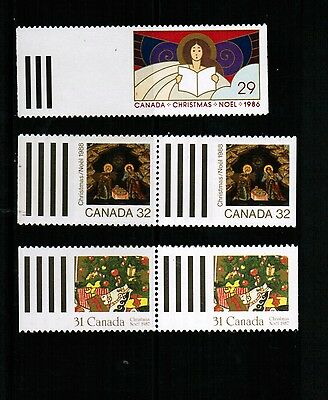 """CANADA 1986-8  ELUSIVE CHRISTMAS """"card"""" STAMPS MNH # below $7.00 LOT 805a"""
