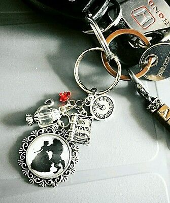 Beauty and the Beast Charm keyring Belle inspired jewellery