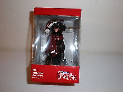 "2011 Petsmart Luv-A-Pet Christmas Tree Ornament  "" Rottweiler""  NIB"