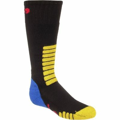 Junior Kids Eurosocks Ski Supreme Socks Black/blue/yellow Xxxs (10-13)