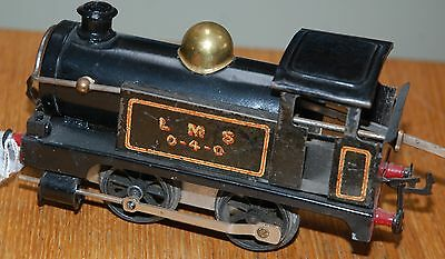 HORNBY SERIES O GAUGE CLOCKWORK No 0 TANK LOCO IN LMS BLACK LIVERY