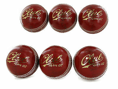 All New Grade A Youth Cricket balls Pack of 6 balls 4.75oz