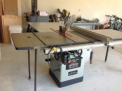 "Delta Plat. Ed 10"" Unisaw w/50"" Biesemeyer Fence, Outfeed Table, NuCraft 100/200"