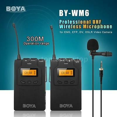 BOYA BY-WM6 UHF Wireless Lavalier Mic Microphone System for ENG EFP DSLR Camera