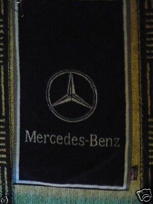 Mercedes-Benz Sir Christopher Hotton Navy And White Vintage Golf Towel