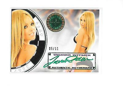 2014 Benchwarmer Vegas Baby Tamara Witmer Green Foil Auto Autograph 5/11