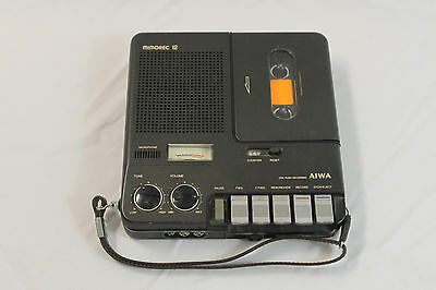 Aiwa TP-12 Mimorec 12 Portable Cassette Recorder Vintage Made in Japan